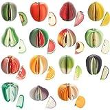 L'Eau et 1en bois de 15sticker Fruits Drapeaux Marqueur Memo Bloc-notes portable Sticky Notes