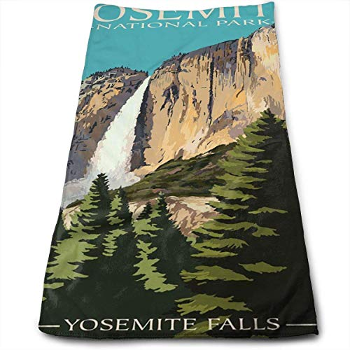 Yosemite Falls - Yosemite National Park, California Bath Towels for Bathroom-Hotel-Spa-Kitchen-Set - Circlet Egyptian Cotton - Highly Absorbent Hotel Quality Towels 12' X 27.5'