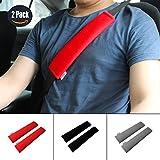 GAMPRO Auto-Gurt-Auflage-Abdeckung, 2-Pack-Soft Car Sicherheitsgurt Schulterpolster für Erwachsene und Kinder, geeignet für Auto-Sicherheitsgurt, Rucksack, Umhängetasche (ROT)