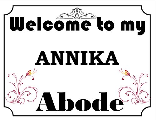 Welcome to My Abode Annika Vintage Stil Metall Wandschild (4796) – Größe ca 280 mm x 205 mm
