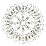 KEESIN Edelstahl Reinigungstuch Pins Utility Wäscheklammern Kleiderbügel Clips für Küche Home 40 Stück