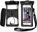 [2017 Upgraded Design] Vansky® Floatable Waterproof Case Dry Bag with Armband and Audio Jack for iPhone 6, 6s plus, Andriod; Mobile Phone Case Waterproof Bag, Eco-Friendly TPU construction and IPX8 Certified to 100 Feet