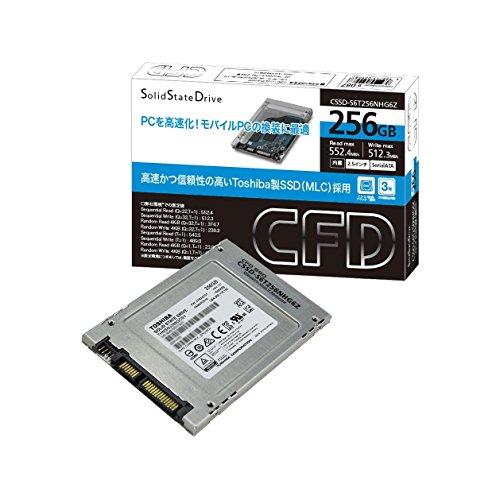 CFD販売 SSD 256GB 2.5inch TOSHIBA製 内蔵型 2.5→3.5inch変換マウンタ付 SATA6Gbps CSSD-S6T256NHG6Z