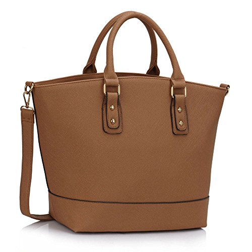 - 518BhEh9NkL - Womens Tote Handbags Ladies Large Tote Bag Designer Faux Leather Celebrity Style New
