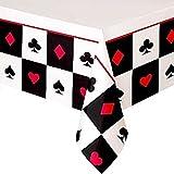 Fancy Me Erwachsene Herren Damen Casino Las Vegas Poker Karten Party Papier Geschirr Dekorationen Geburtstag Feier Neujahr Teller Tassen Servietten Tischdecke (Tischtuch)