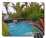 tropischen Dschungel Spa Whirlpool in Vegetation Blick auf Hawaii Strand auf Big Island Mauspad, Mousepad (Strände Maus Pad)