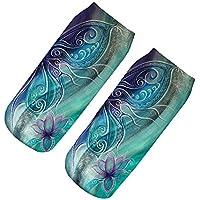 fhcgwz 5pcs / mis en 3d lotus des chaussettes 19x8cm lotus 3d bleu doux chaussettes fashion cartoon femmes 3d décolleté socquettes harajuku style smiley 8476a8