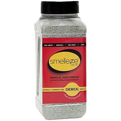 SMELLEZE natur chemischen Geruch Entferner Pulver: 2 lb. Flasche. Ideal für Innen-Teppich, Möbel und anderen chemischen Gerüche & Verschütteten Flüssigkeiten