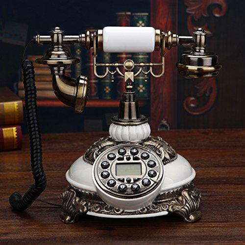 motesuvar clásica estilo blanco europeo teléfono antiguo teléfono inalámbrico teléfono Retro Tarjeta