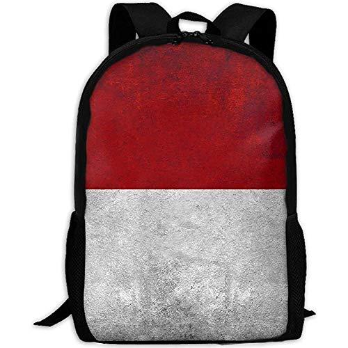 Rucksäcke Vintage indonesische Flagge Erwachsenen Reise Rucksack Schule lässig Daypack Oxford Outdoor Laptop Tasche College Computer Umhängetaschen -