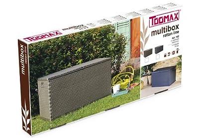 Toomax Kissenbox Multibox Rattan 420, Braun von TOOMAX - Du und dein Garten