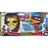 All New Avenger Infinity War Iron Man Launcher With Iron Man Mask, Soft Bullet Blaster Gun Toy With 6 Soft Darts For 6+