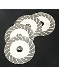 sypure £ ¨ TM) 100mm 10,2cm en acier carbone revêtement diamant Polissage disque de coupe rotatif coupe de grain F/Meuleuse d'angle de roue # 100