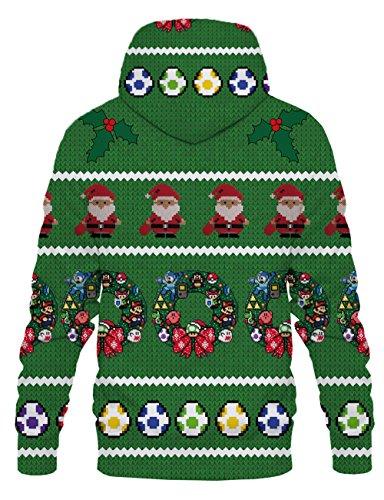 LAIDIPAS Unisex Realistische 3D Galaxy bedruckte große Taschen Drawstring Pullover Hoodie Kapuzen Sweatshirt Style 28