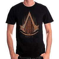 Assassins Creed Wooden Symbol T-Shirt Black Cotton - XXL