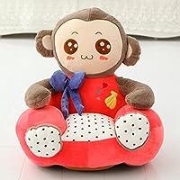 Preisvergleich für MAXYOYO Kids Plüsch Spielzeug Cute Bear/Kitty/Affe/Kaninchen Trug Bow Ties Ultra Weich Gefülltes Plüsch Puppe, Tatami Sofa Stuhl für Kinder, Kleinkinder/Baby Affe