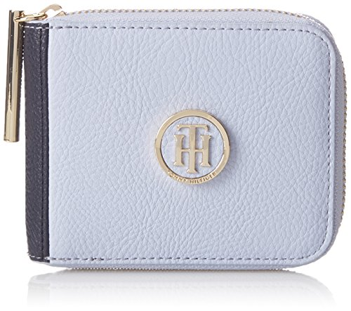 Tommy Hilfiger Damen Th Core Sm Za Wallet Geldbörse, Blau (Heather Mix), 1x10x13 cm (Heather Zubehör)