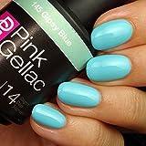 Pink Gellac 145 Gipsy Blue UV Nagellack. Professionelle Gel Nagellack shellac für mindestens 14 Tage perfekt glänzende Nägel