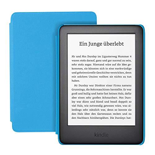Der neue Kindle Kids Edition - mit Zugriff auf mehr als tausend Bücher, blaue Hülle