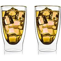 bedida '2x 300ml transparente térmicos para Latte Macchiato Vasos de Doble Pared con Efecto flotante, también para smoothies, Cócteles, Té, Té Helado, agua, zumos, by Feelino.
