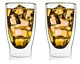 """'2x 300ml """"transparente térmicos para Latte Macchiato Vasos de Doble Pared con Efecto flotante, también para smoothies, Cócteles, Té, Té Helado, agua, zumos,...–bedida by Feelino..."""