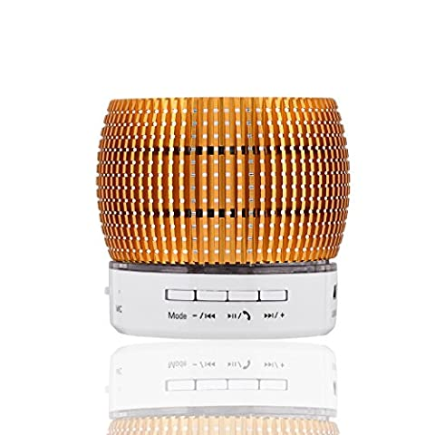 Jieyida Portable Wireless Bluetooth Speaker Support TF Card USB Disk Music Playing Mini Size Speaker for Apple iPhone Samsung Galaxy S7 S6 Edge Plus S5 Note 5 4 3 Tablets Laptop Desktop (Orange)