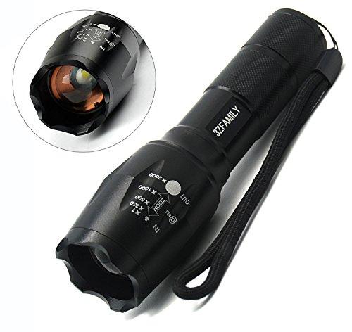 3ZFAMILY Z3XML T6 Lampe torche étanche à LED 1000lumens Mise au point réglable 5modes