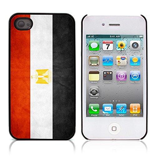 Graphic4You Vintage Uralt Flagge Von Marokko Marokkanisch Design Harte Hülle Case Tasche Schutzhülle für Apple iPhone 4 und 4S Ägypten Ägypter