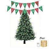 Tumao Weihnachtsbaum Tapestry, Christmas Tree Tapisserie Weihnachten Party Gefälligkeiten Dekoration Wandbehang Tapisserie für Wohnzimmer Schlafzimmer Wohnheim Dekor 145×215cm