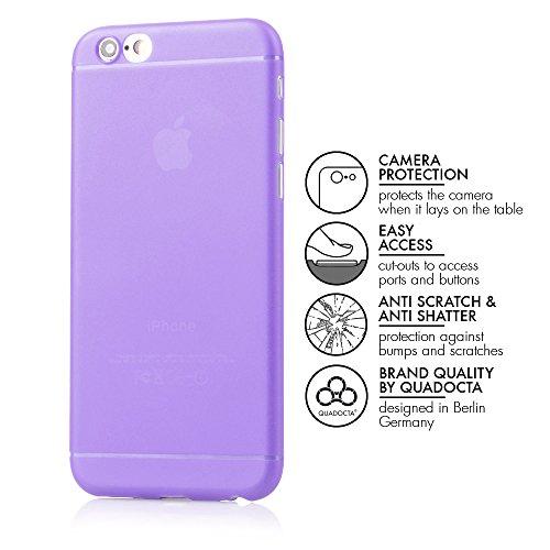 """iPhone 6/6s (4,7"""") Ultra Slim Case - Schutzhülle - """"Gracili"""" in Grau - Ultra dünne iPhone Hülle mit Kameraschutz- Leicht transparentes Case mit Rundumschutz - Extrem dünnes Etui als premium Zubehör fü lila"""