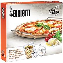 Bialetti 0pz07327piedra Pala y cortador de pizza, acero, plata, 50x 40x 5cm