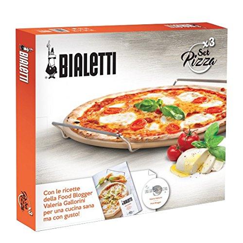 Bialetti 0pz07327pietra per pizza pala e schneider, acciaio, argento, 50x 40x 5cm