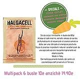 lo scrub corpo rinnovante Halgacell elimina le cellule morte,satina ed ammorbidisce la pelle preservando il film idrolipidico. E' ricco di preziosi ingredienti naturali caratterizzati da una spiccata azione levigante,rigenerante ed elasticizz...