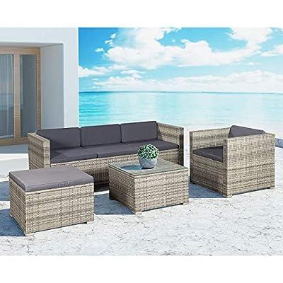 ArtLife Polyrattan Lounge Punta Cana in 2 Größen & Farben für 3-5 Personen von Juskys Gruppe GmbH auf Gartenmöbel von Du und Dein Garten