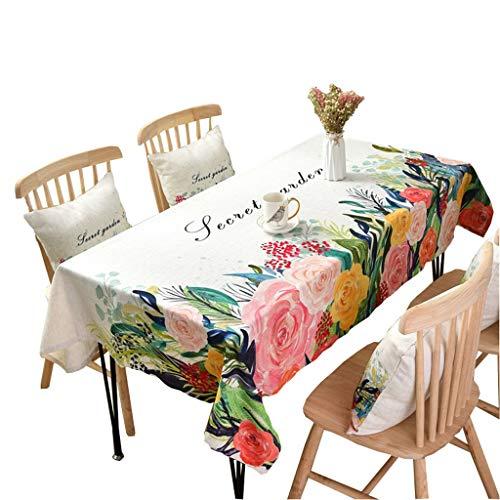 LSJT Rustikale American Pastoral Baumwolle Tischdecke Couchtisch Tuch Farbe Ölgemälde Tischdecke...