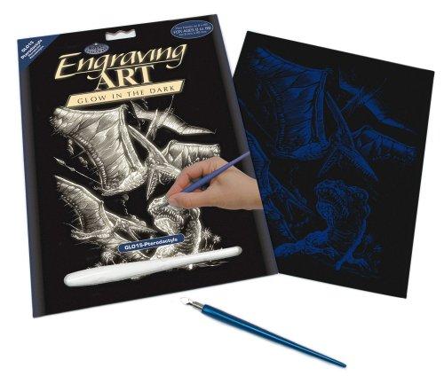Preisvergleich Produktbild Royal & Langnickel GLO15 - Glow in the Dark Engraving Art/Kratzbilder, DIN A4, Flugsaurier