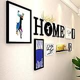 Foto Wand Fotorahmen mit Bilderrahmen Wand hängende Wand Nordic Wohnzimmer Sofa Wandmalerei dekorative Malerei Großformat Brief 5 Zoll 7 Zoll 10 Zoll 12 Zoll