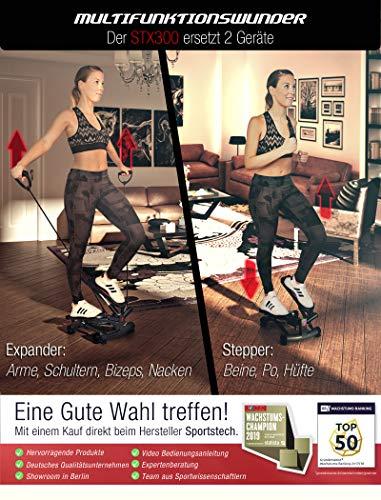 Sportstech 2in1 Twister Stepper mit Power Ropes – STX300 Drehstepper & Sidestepper für Anfänger & Fortgeschrittene - 3