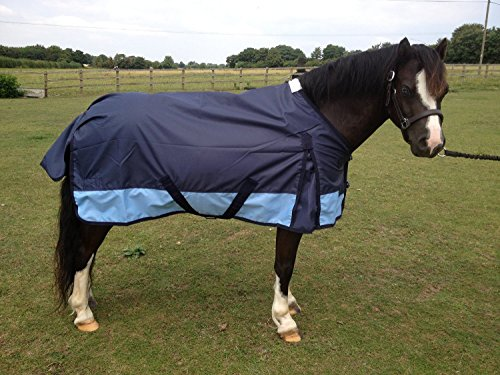 600d-Navy-Sky-Lightweight-Horse-Pony-Turnout-Rug-2ft9in-to-7ft0in-Foal-to-Full