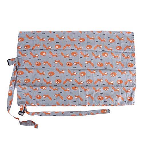 LIGHTBLUE Stillen Pflege Abdeckung Anti-Light Breathable Fütterung Handtuch Cartoon niedlichen Schal Staubschutz, graue Fuchs (Pflege-abdeckung Stillen Das Für)