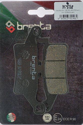 Brenta Pastiglie Freno Organiche Moto per Yamaha HW 125 Xenter, YW 125 BWS, HW 150 Xent
