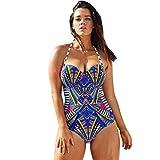 Bañadores Deportivas Mujer,Xinan Traje de Baño de Una Pieza Push Up Acolchada Bikini (M)