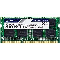Timetec Hynix IC 8GB DDR3L 1600MHz PC3-12800 Unbuffered Non-ECC 1.35V CL11 2Rx8 Dual Rank 204 Pin SODIMM Portatil Memoria Principal Module Upgrade (8GB)