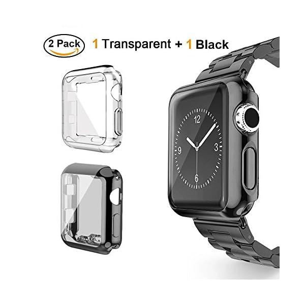 VIKATech Compatible Correa para Apple Watch 44mm 42mm 40mm 38mm | Pulsera de Acero Inoxidable | Pulseras de Repuesto Smartwatch con Imán Compatibles con iWatch Series 5/4/3/2/1 1