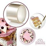 TIERRAFILM Tortenrandfolie Transparent Acetat Rolle - 6cm x 10m 125 mikron Dessertringe