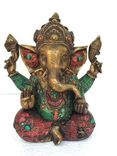 craftvatika Hindu Gott Ganesha Ganesha Ganpati–Messing Statue