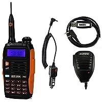 Baofeng PoFung GT-3TP Mark-III Tri-transceptor FM radio de dos vías, de doble banda 136-174 / 400-520 MHz, Tri-Power cuarto / 8W, parlante remoto y programación por cable Incluido (GT-3TP MARK III)