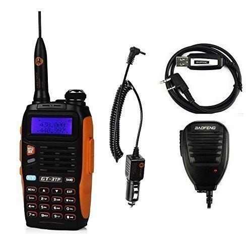 Baofeng GT-3 TP Mark III 136-174 / 400-520MHz Tri-Power 1/4 / 8W talkie walkie plus efficaces Range pour Parler avec 8W puissance de sortie + Câble de programmation&CD + Haut parleur + Chargeur