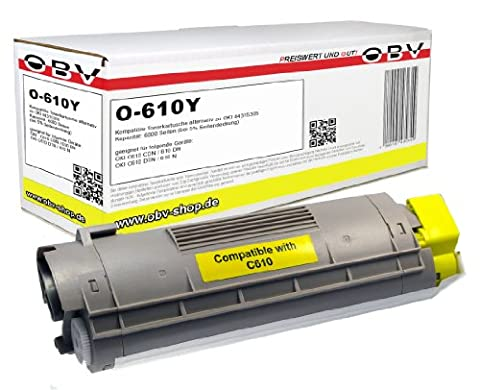 Kompatibler Toner ersetzt OKI 44315305 für OKI C610 gelb 6000 Seiten
