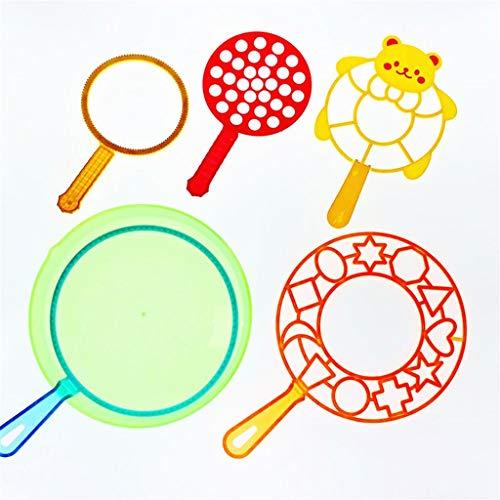 Blasenshow Leistung Prop Werkzeug Magie Lust Großer Blasenkreis Big Bubble Wasser Blasen Blase Zauberstab einstellen Bläschen Sortiment Party 5er Set Sortiert Formen